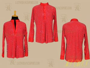 LATINODANCESPORT.COM-Ballroom LATIN RHYTHM Dance Body Shirt-MDS-07