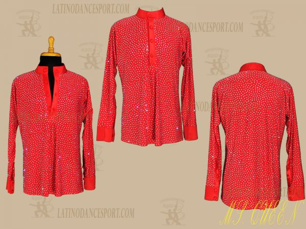 LATINODANCESPORT.COM-Ballroom LATIN RHYTHM Dance Body Shirt-MDS-07