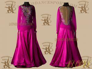 Latinodancesport.com-Ballroom Standard Smooth Dance Dress-SDS-25