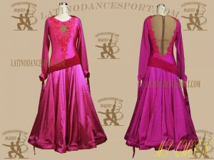 Latinodancesport.com-Ballroom Standard Smooth Dance Dress-SDS-25X