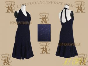 LDS-26-Ballroom Latin Dance Dress Tailored No Stones