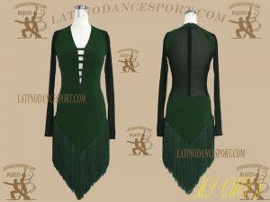 LDS-23-Ballroom Latin Dance Dress Tailored No Stones