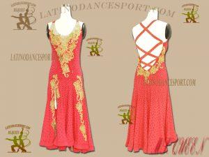 READYWEAR-02-Ballroom Latin Dance Dress Tailored Stoned Competition