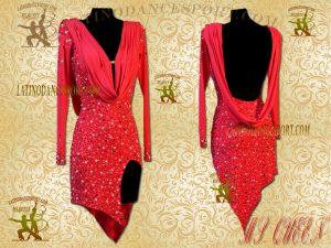 Latinodancesport Ballroom Dance LDS-89 Latin Dress Tailored