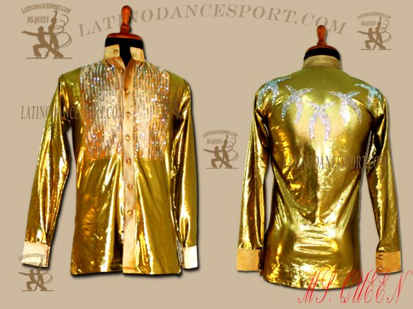 MDS-04A-Ballroom Dance Costumes Latin Body Shirt For Competition
