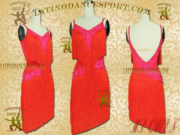 Latinodancesport Ballroom Dance LDS-34 Latin Dress Tailored Without Stones