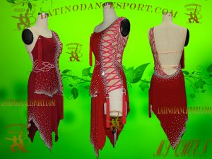 Latinodancesport Ballroom Dance LDS-10 Latin Dress Tailored