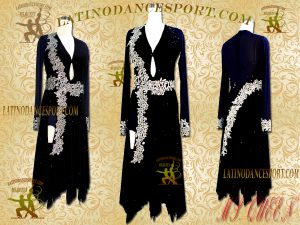 Latinodancesport Ballroom Dance LDS-37 Latin Dress Tailored