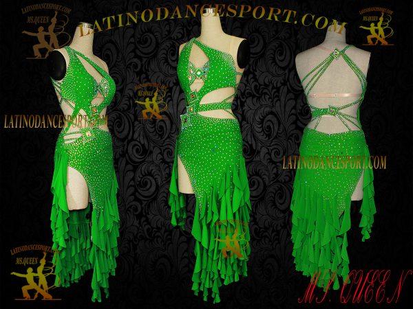 Latinodancesport Ballroom Dance LDS-30 Latin Dress Tailored