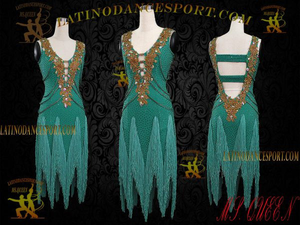 Latinodancesport Ballroom Dance LDS-90 Latin Dress Tailored