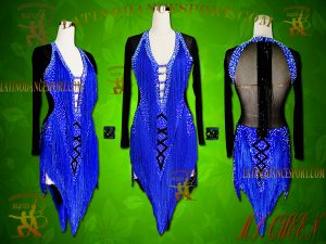 Latinodancesport Ballroom Dance LDS-94 Latin Dress Tailored