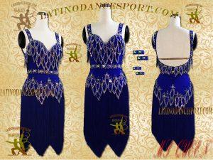 Latinodancesport Ballroom Dance LDS-29A Latin Dress Tailored