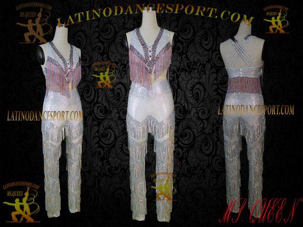 Latinodancesport Ballroom Dance LDS-Q105 Latin Jumpsuit/Catsuit Tailored