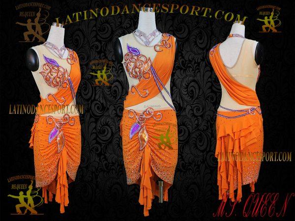 Latinodancesport Ballroom Dance LDS-32 Latin Dress Tailored