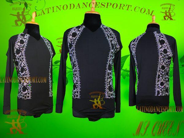 Latinodancesport Ballroom Dance Menswear MDS-09 Latin Shirt Body Tailored