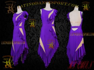 Latinodancesport Ballroom Dance LDS-65A Latin Dress Tailored