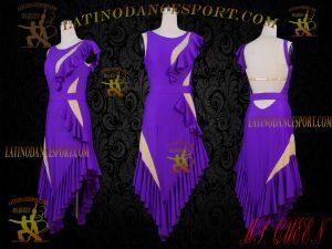 Latinodancesport Ballroom Dance LDS-65A Latin Dress Tailored