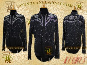 Latinodancesport Ballroom Dance Menswear MDS-10 Latin Shirt Body Tailored