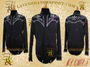 Latinodancesport Ballroom Dance Menswear MDS-10 Latin Shirt Body Tailored