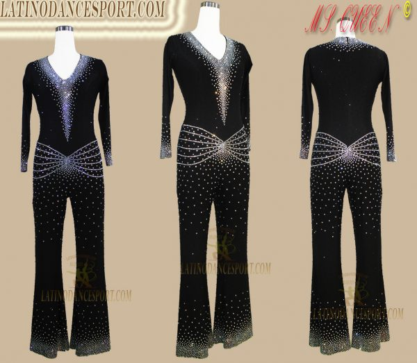 Latinodancesport Ballroom Dance LDS-Q114 Latin Jumpsuit/Catsuit Tailored