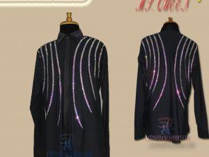 MDS-15 Latinodancesport Ballroom Dance Menswear Latin Shirt Body Cowboy Style Tailored